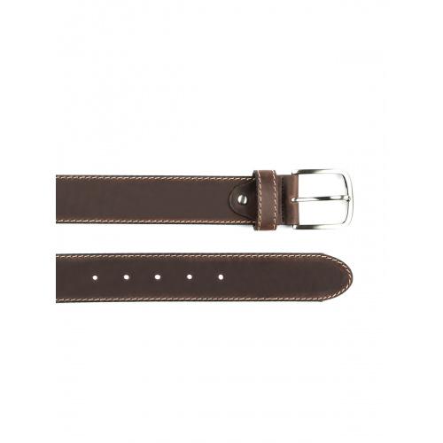 Cinturón piel botón hombre